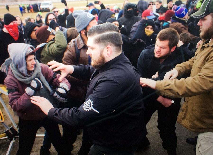 Fights Break Out, People Arrested Before Richard Spencer's MSU Speech