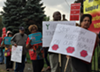 Protesters call for halt on tax foreclosures in Detroit in 2017.