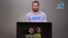 Detroit Lions Center Frank Ragnow is petrified by a pineapple.