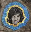 """Aretha Franklin"" mosaic located at Rivard and Adelaide."