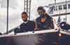 Damarii Saunderson, right, plays Movement Electronic Music Festival with his brother in 2016.
