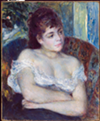 """Woman in an Armchair,"" 1874, Pierre-Auguste Renoir, French; oil on canvas."