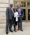 Cedric and Lisa Griffey with lawyer Jon Marko.