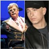 Elton John and 'old cunt' bestie Eminem.