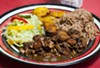 Brown stew chicken at Jamaican Pot.