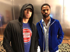 Eminem and Big Sean were at the Pistons game together last night (2)