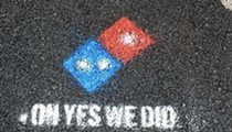 What's grosser than Domino's Pizza? Domino's Pizza paving Hamtramck's roads