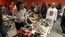 Icewear Vezzo and the Detroit Rappers Organization hosted a shoe drive in Detroit over the weekend