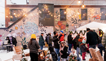 Detroit's Corktown shines during 4th annual sprawling Corktown Aglow event