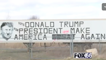 Pro-Donald Trump I-75 billboard defaced