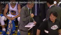 Watch Warriors coach Steve Kerr break his whiteboard in one punch