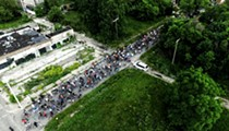 We flew a drone over Monday's Slow Roll Detroit