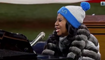 Aretha Franklin's National Anthem was long as hell but amazing as ever