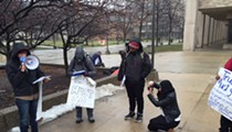 Fired-up anti-Trump demonstrators hold lukewarm protest in the cold