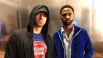 Eminem and Big Sean were at the Pistons game together last night
