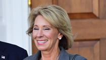 Why was Betsy DeVos at a Supreme Court hearing about the fate of workers unions?