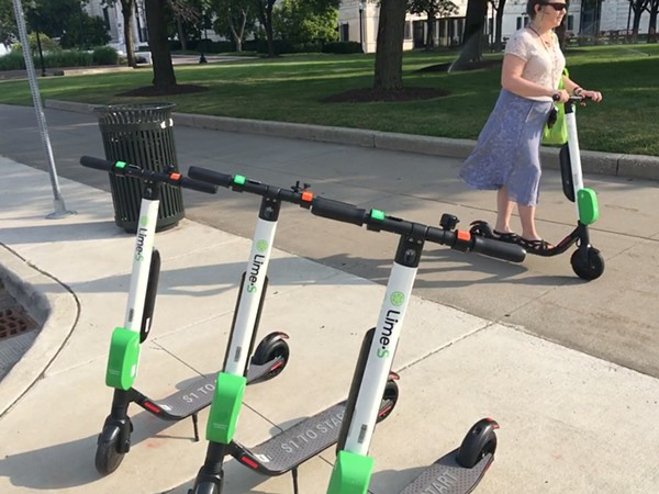 detroit now has two electric scooter services the scene. Black Bedroom Furniture Sets. Home Design Ideas