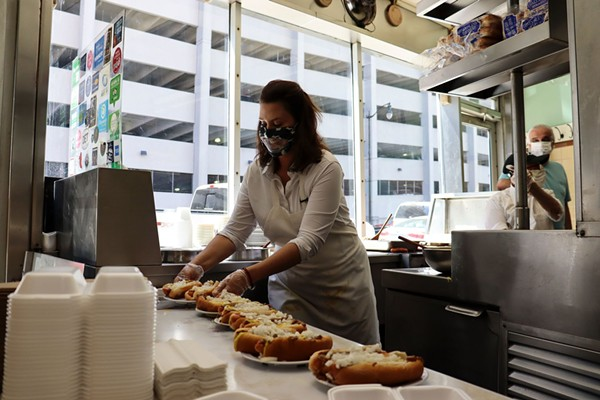 Anyway, here's Gov. Whitmer slinging coney dogs in Detroit
