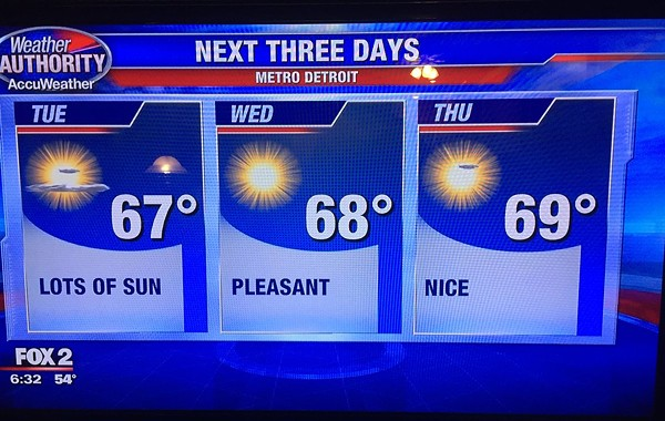 The Internet Loved Fox 2 Detroit S Weather Forecast This Week The Scene