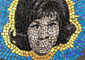 Artist gives potholes a mosaic makeover at Eastern Market