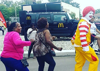 Watch: Ronald McDonald hustles his Nae-Nae at a Detroit McDonald's