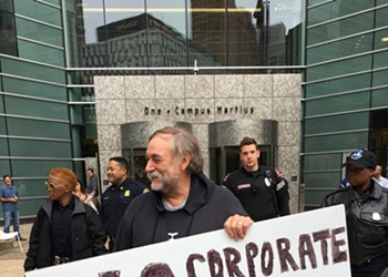 Protesters push back after Donald Trump fundraiser at Dan Gilbert-owned building