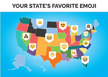Michigan residents use this emoji more than any other