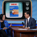 Watch Jack White and Stephen Colbert sing extended commercial jingles