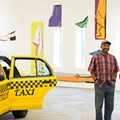 Artist Tyree Guyton directs the installation of <i>2+2=8 Tyree Guyton: Thirty Years of Heidelberg</i> at Museum of Contemporary Art Detroit.