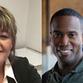 Left: Reporter Brenda Battel, former of the <i>Huron Daily Tribune</i>. Right: Former U.S. Senate candidate John James.