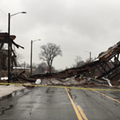Detroit's Packard Plant bridge just collapsed