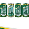 Vernors showcasing Michigan lighthouses on limited edition cans