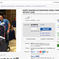 You can now bid on a Silverdome urinal autographed by Barry Sanders