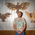 Matt Ziolkowski's wooden birds on display at UFO Factory
