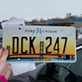 WOOD-TV reporter coincidentally gets 'DCK 247' license plate