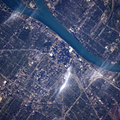 Photo: Detroit from 249 miles above Earth