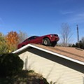 Photo of the day: Mustang lands on Michigan rooftop