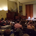 Watch: Audience calls 'baloney' on Snyder at WSU bankruptcy talk