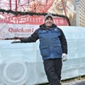 Ice sculptors bring their own auto show into Campus Martius Park
