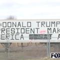 Pro-Donald Trump I-75 billboard defaced
