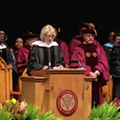 Betsy DeVos was booed today as she gave a commencement address