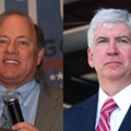 Detroit Mayor Mike Duggan and Governor Rick Snyder.