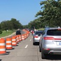 Nine days after the race, the Grand Prix's construction is still causing long traffic jams