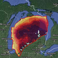 This is what Hurricane Harvey would look like if it landed in Michigan