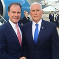 Vice President Mike Pence is in Detroit to hang out with Schuette and brag