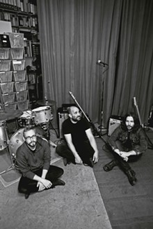 RYAN RUSSELL - David Bazan (center) with drummer Sean Lane and guitarist Erik Walters.