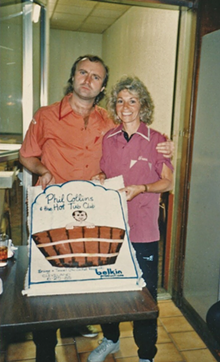 COURTESY OF AUTHOR - Frank Belkin with Phil Collins.