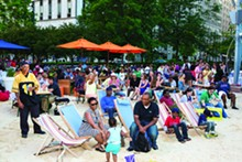 COURTESY PHOTO - The Beach; Campus Martius