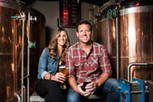 STEVEN HAUPTMAN - Drew Ciora, right, and wife Michelle, of Royal Oak Brewery.