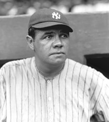 WIKIPEDIA COMMONS/PUBLIC DOMAIN VIA THE SPORTING NEWS ARCHIVES - Babe Ruth, 1922.